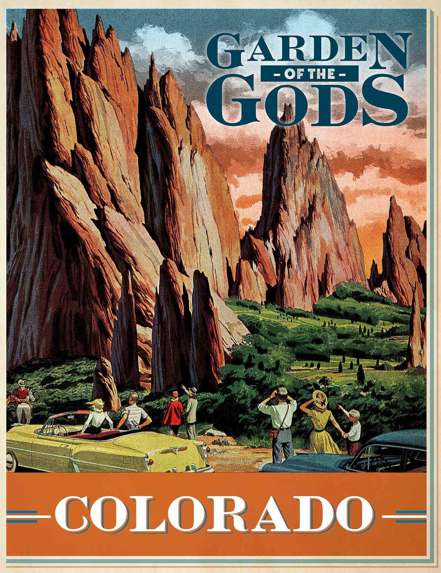 Garden of the Gods Vintage Advertisement on Wrapped Canvas | Lugares ...