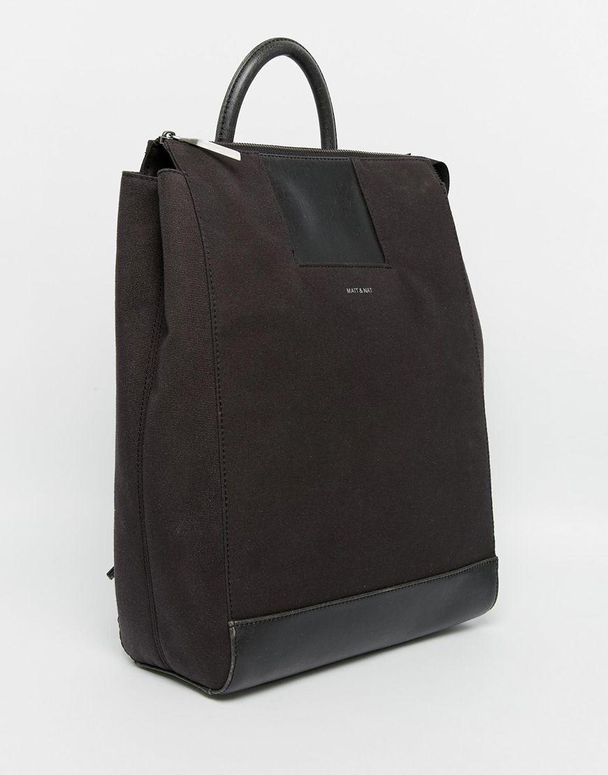 fcfdadddc89f Image 2 of Matt   Nat Brave Square Style Canvas Zip Top Backpack