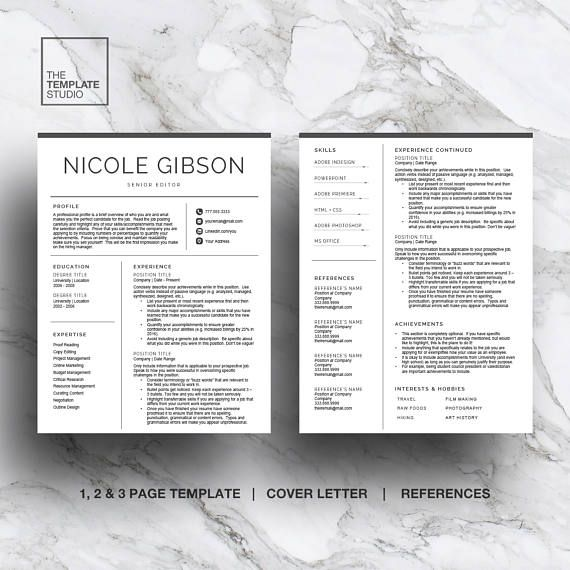 a 1 2 and 3 page resume template designed to take the stress out of - Pages Resume Template