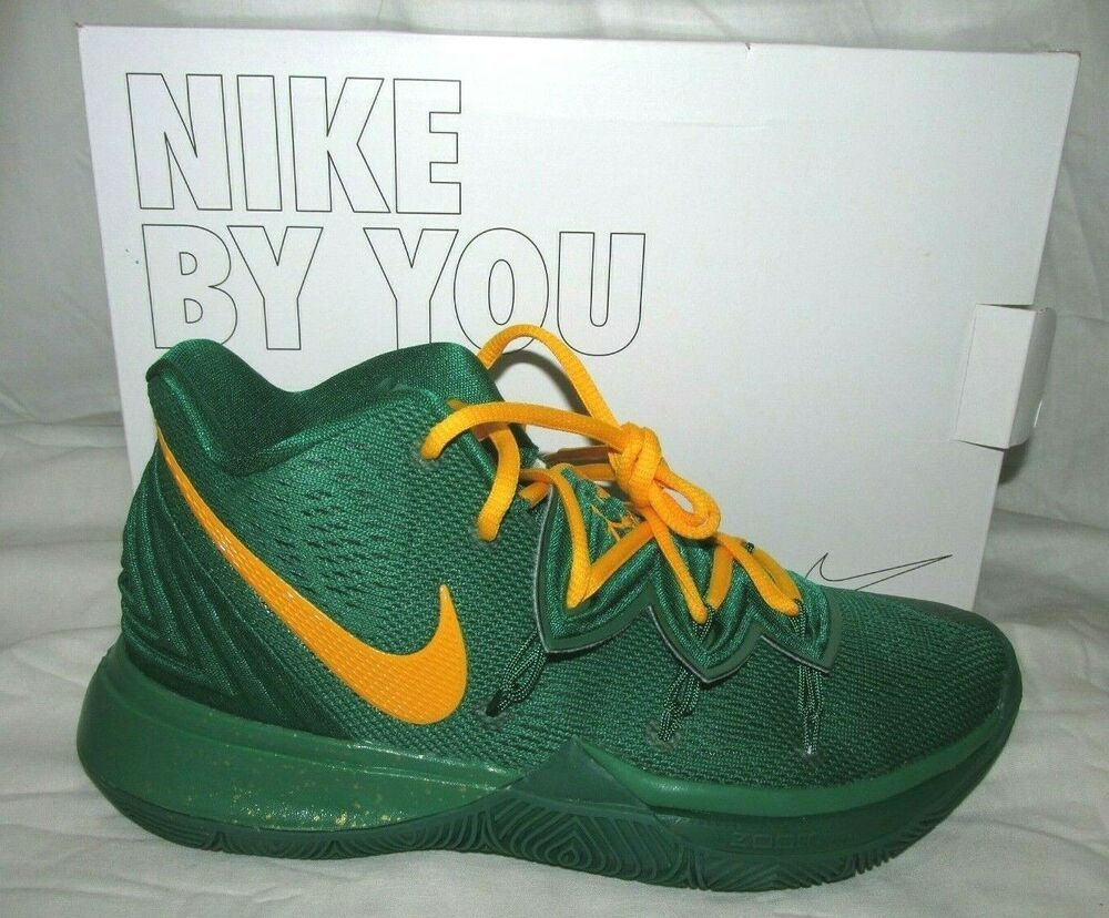 Nike Kyrie 5 Id Mens Basketball Shoes 7 Clover Green Gold Av7917 991 Nike Basketballshoes