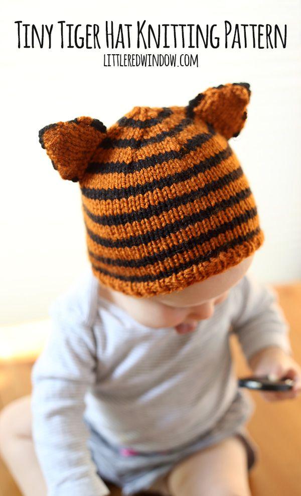 Tiny Tiger Hat Knitting Pattern   Knitting patterns, Tigers and Patterns