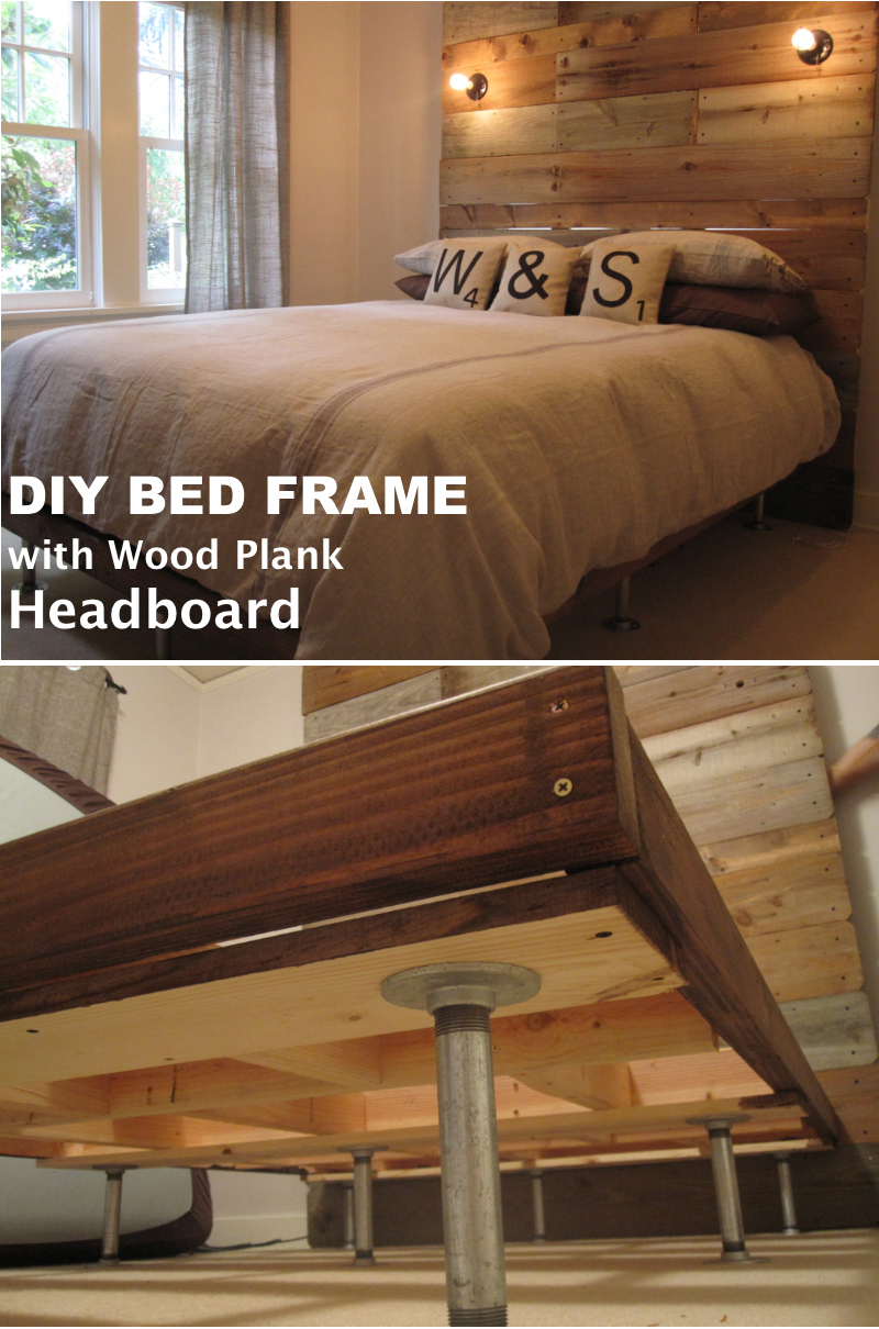 Pin on Live edge bed frame
