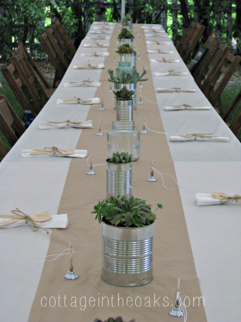 Succulents U0026 Tin Cans ::: The Perfect Centerpiece!   Cottage In The Oaks.  Graduation Open HousesGraduation 2016Graduation IdeasOutdoor ...