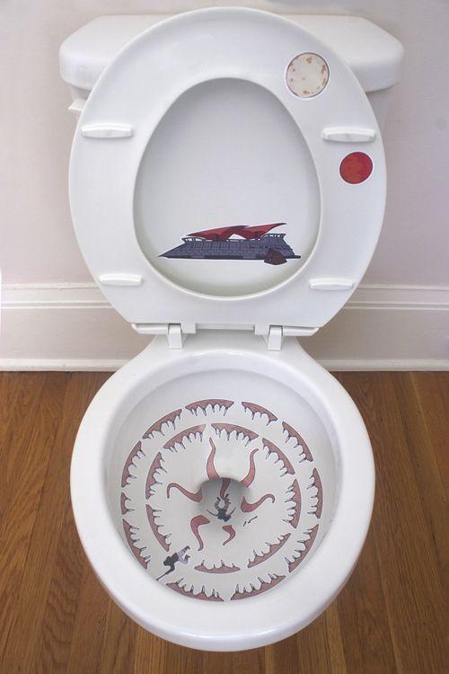 toilettes sarlacc sticker decoration de wc starwars 1 Toilettes ...