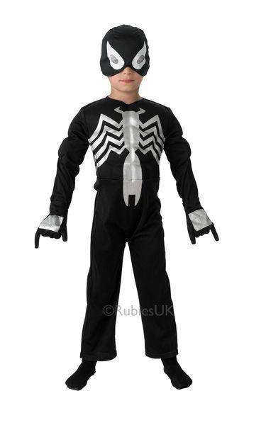 Lasten naamiaisasu; musta Spiderman | Naamiaismaailma