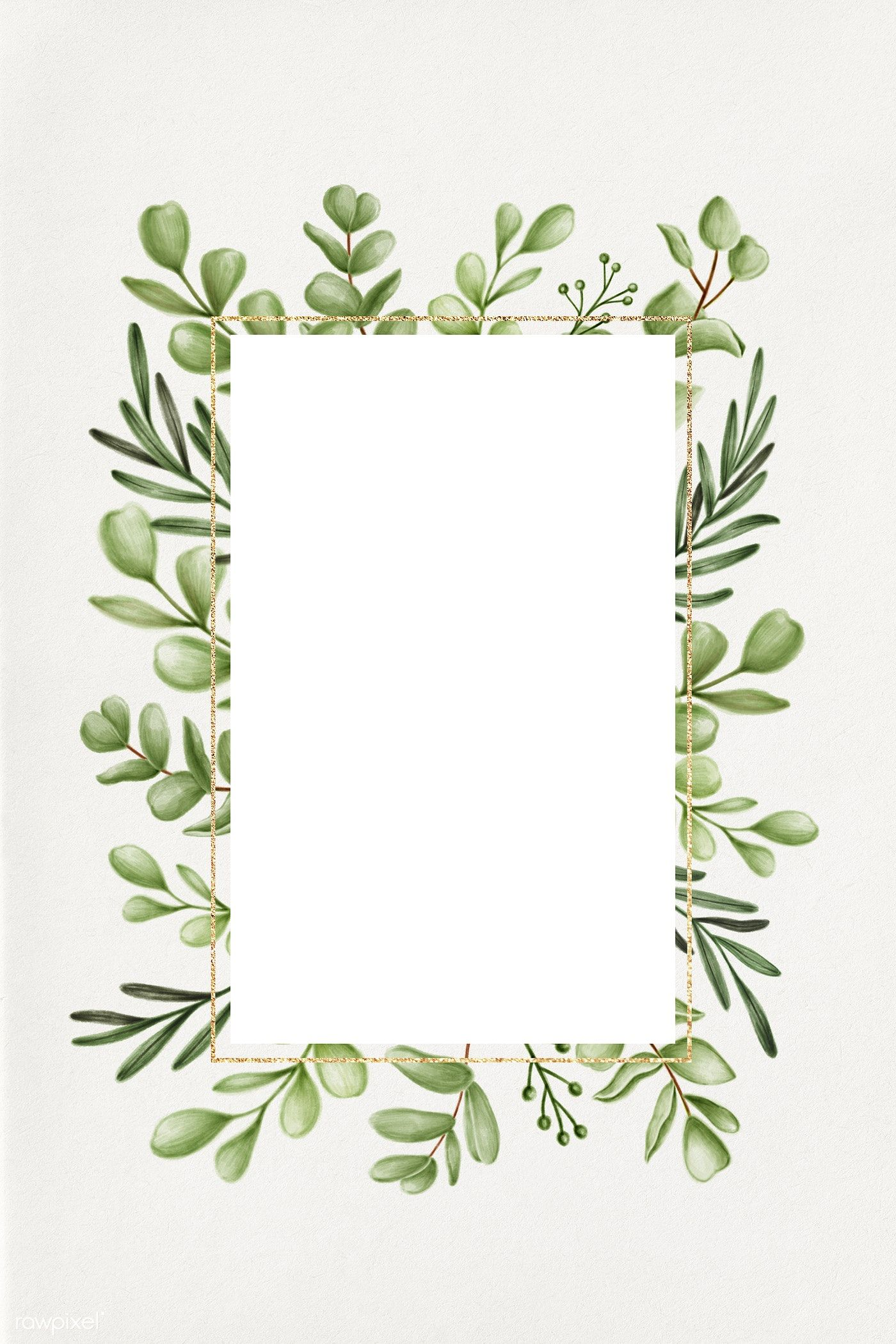 Download Premium Illustration Of Green Floral Frame Illustration 2032846 Frame Green Leaf Background Illustration