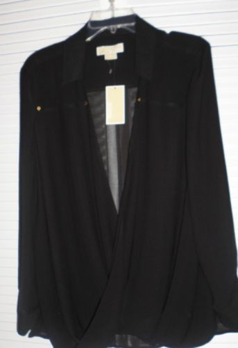 2c0174936c1 NWT Women s Dressy Black Top LONG SLEVES by Michael Kors Plus Size ...