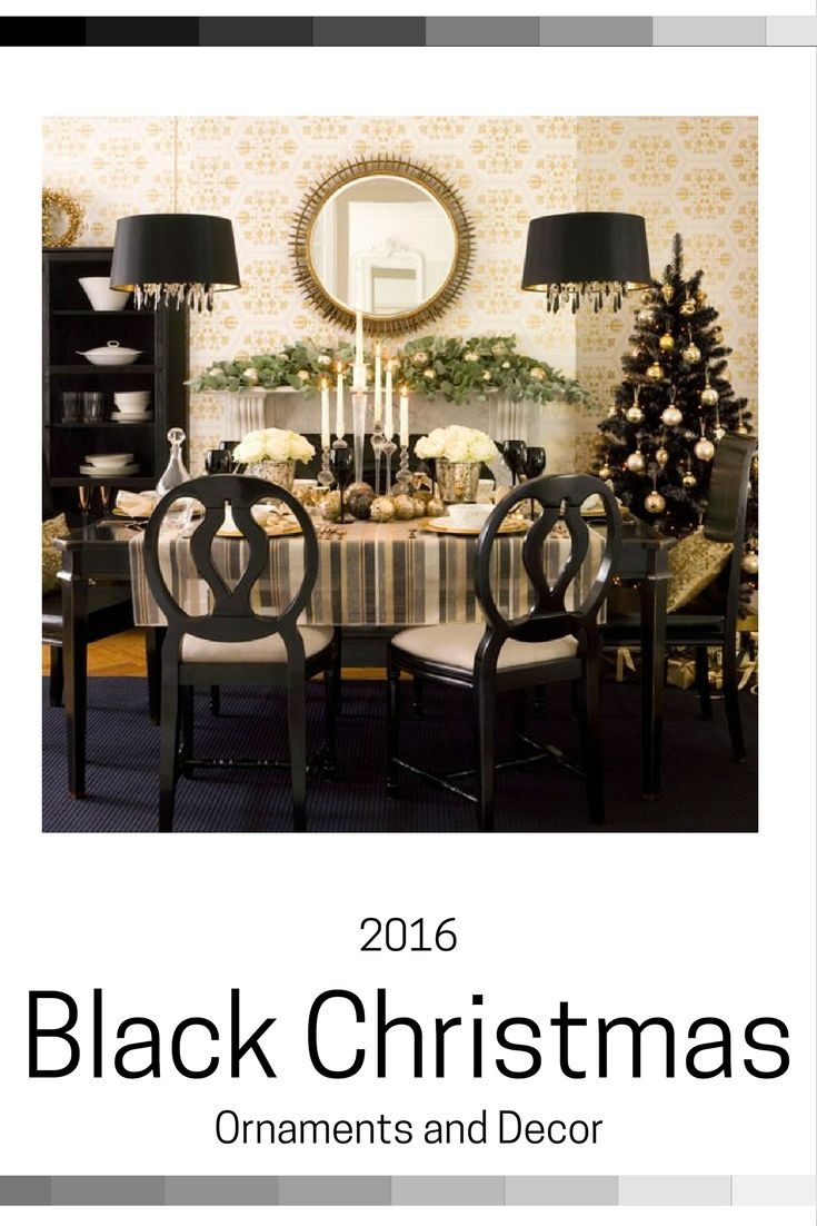 Black Christmas Ornaments 4 Stars Up Home Kitchen Christmas Dining Room Dining Room Table Centerpieces Christmas Table Decorations