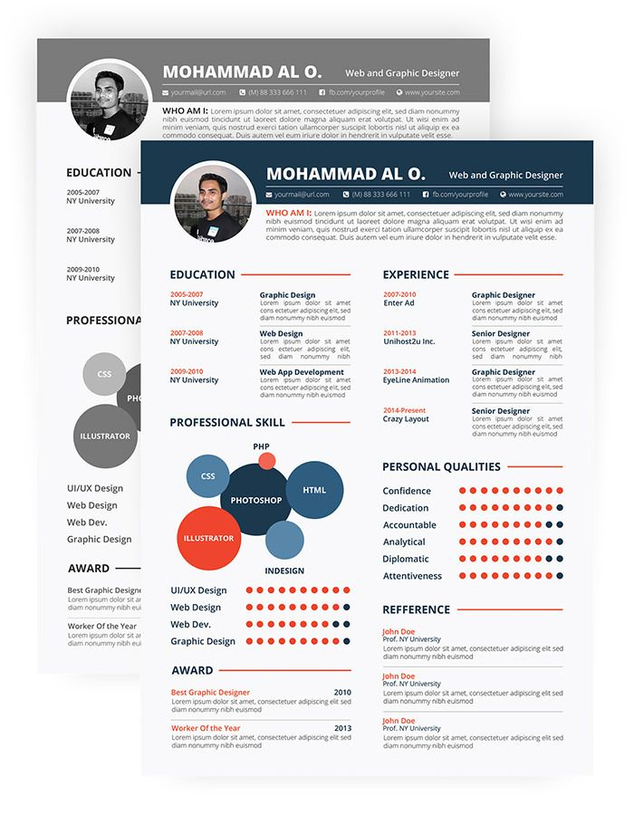 Free  Beautiful Resume Templates To Download  Template Design