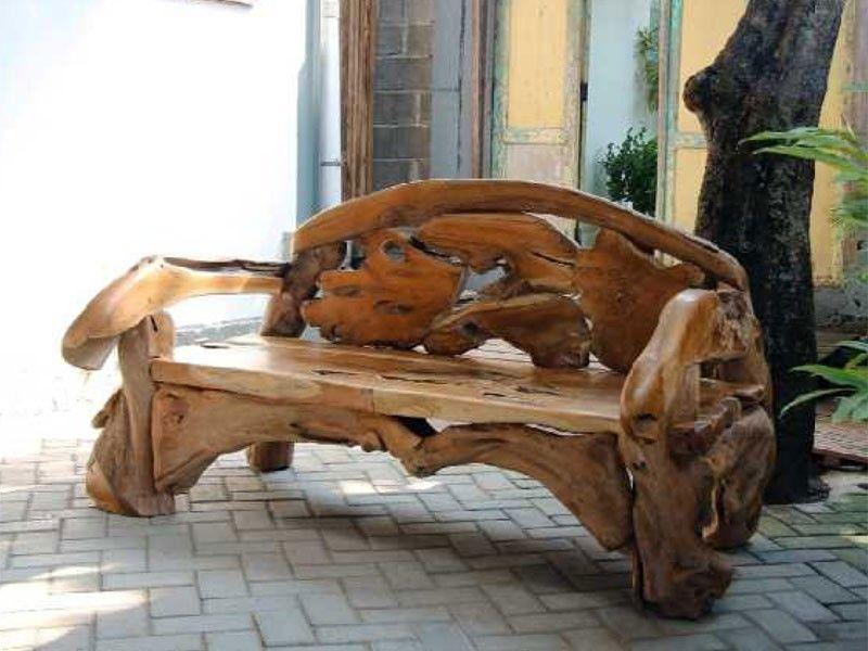 Cool Naga Reclaimed Teak Root Bench Garden Benches Bench Short Links Chair Design For Home Short Linksinfo