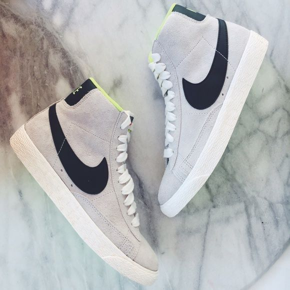 brand new 5d55f cf3aa Nike Suede Blazer High Top Sneakers •The Nike Blazer Mid Suede Vintage  Women s Shoe is a remake of Nike s ground-breaking basketball shoe from the  70s, ...