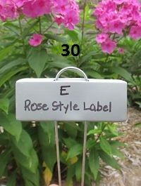 30 Rose Style Garden Labels From Paw Paw Everlast Label Company. Available  With Zinc Or Copper Nameplates.