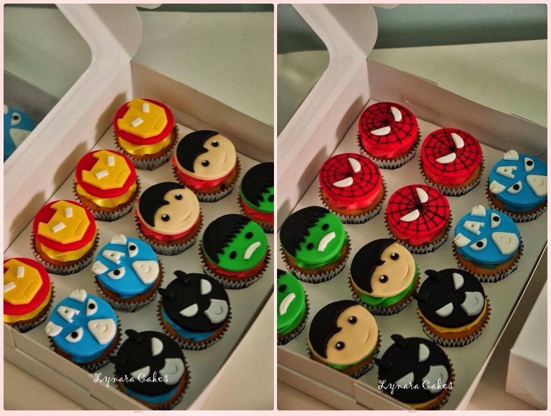 Lego marvel cupcakes via google search  Lego  Pinterest  Marvel