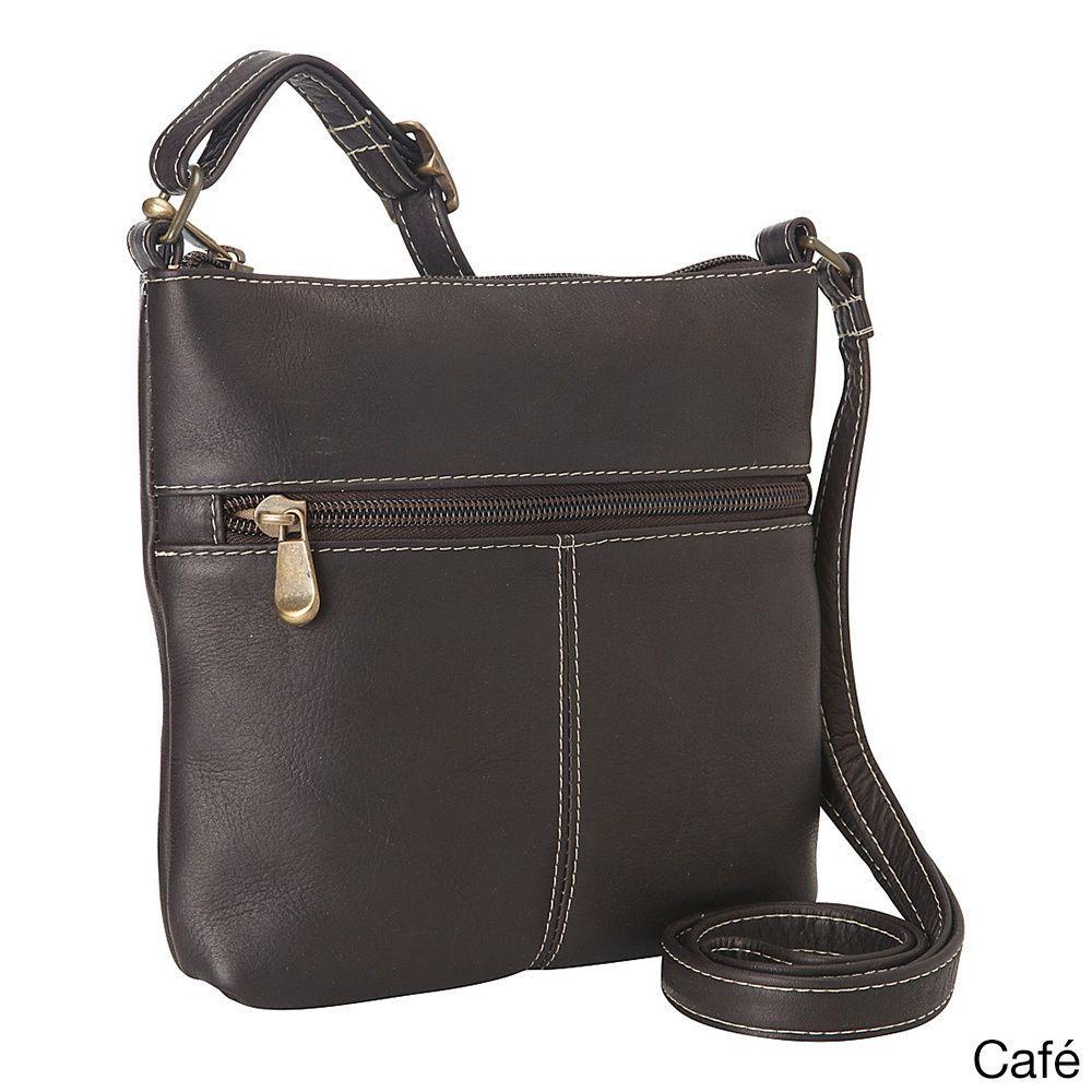 LeDonne Leather Shop Leather Lifestyle Crossbody Handbag (Brown ... 8326263b016c5