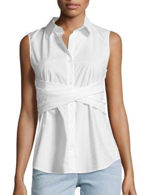 bd4736fb376f90 Derek Lam 10 Crosby - Sleeveless Twist Front Shirt | Core fashion ...