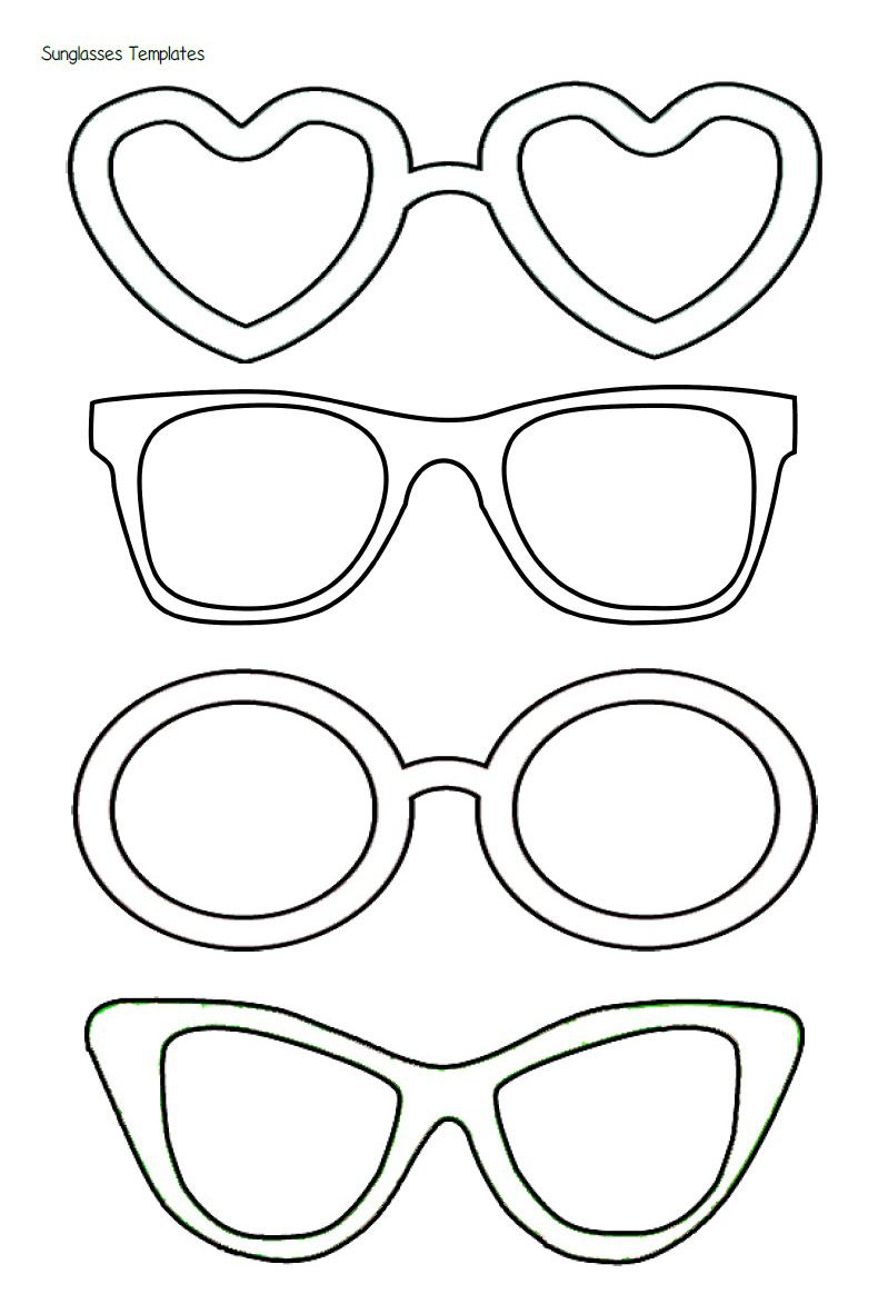 graphic about Printable Sunglasses named Summer months Is Adorable Within Preschool!\