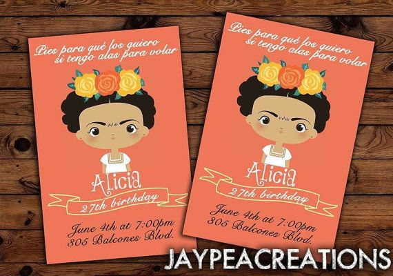 frida kahlo fun invites you print do it yourself printable