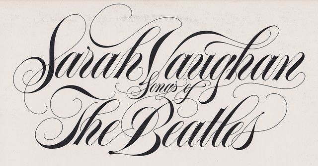 Lettering from an LP jacket.  Sarah Vaughan – Songs of The Beatles  1981