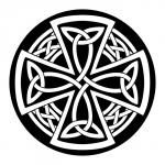 Celtic circle and cross design