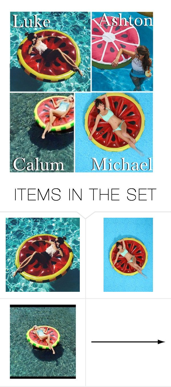 """""""Your Watermelon Float!"""" by x5sosxpreferencesx ❤ liked on Polyvore featuring art"""