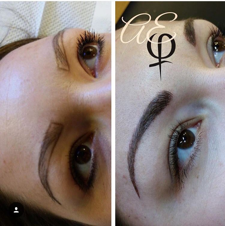 Before and After Microblading by Artist Alana Everett