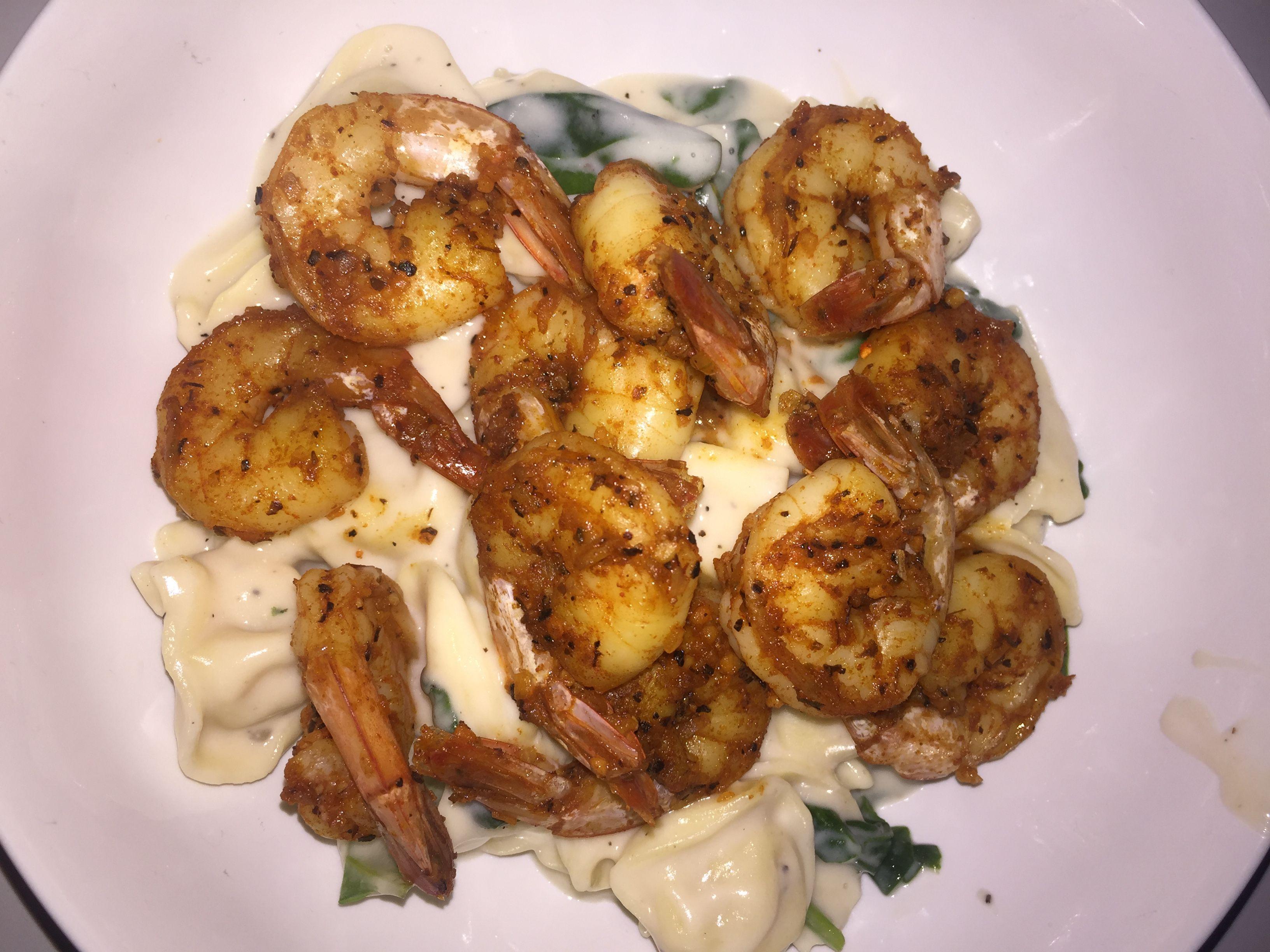 Cajun Shrimp and Three Cheese Tortellini