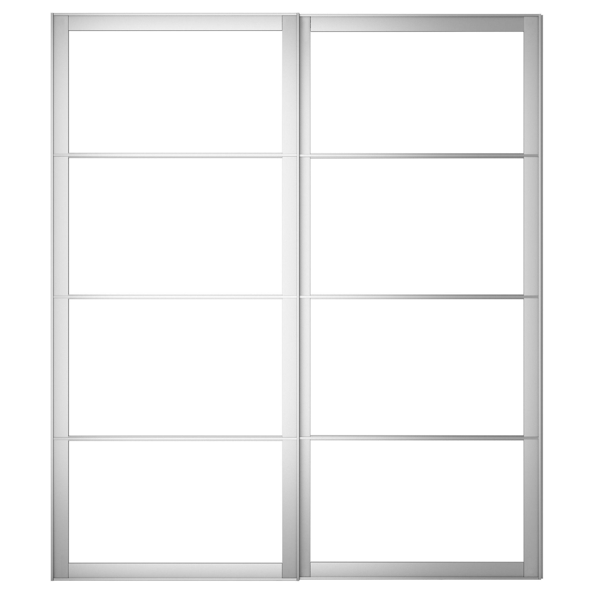 Pax pair of sliding door frames rail aluminum ikea for Pannelli scorrevoli ikea