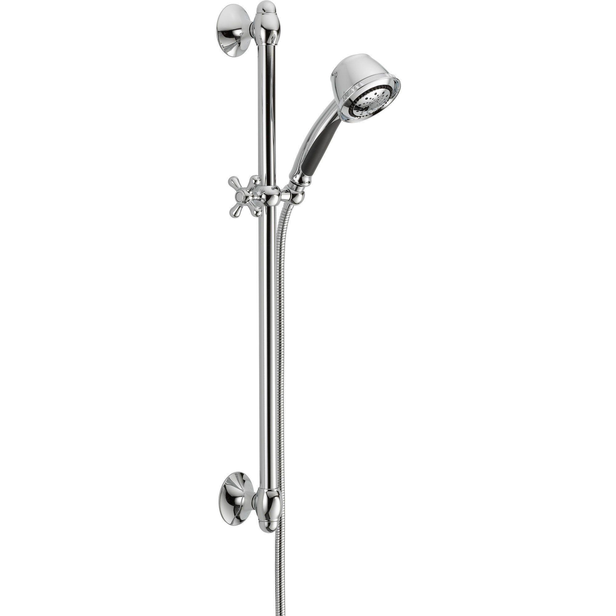 Delta 5 Spray Chrome Handheld Shower Head With Slide Bar 561052