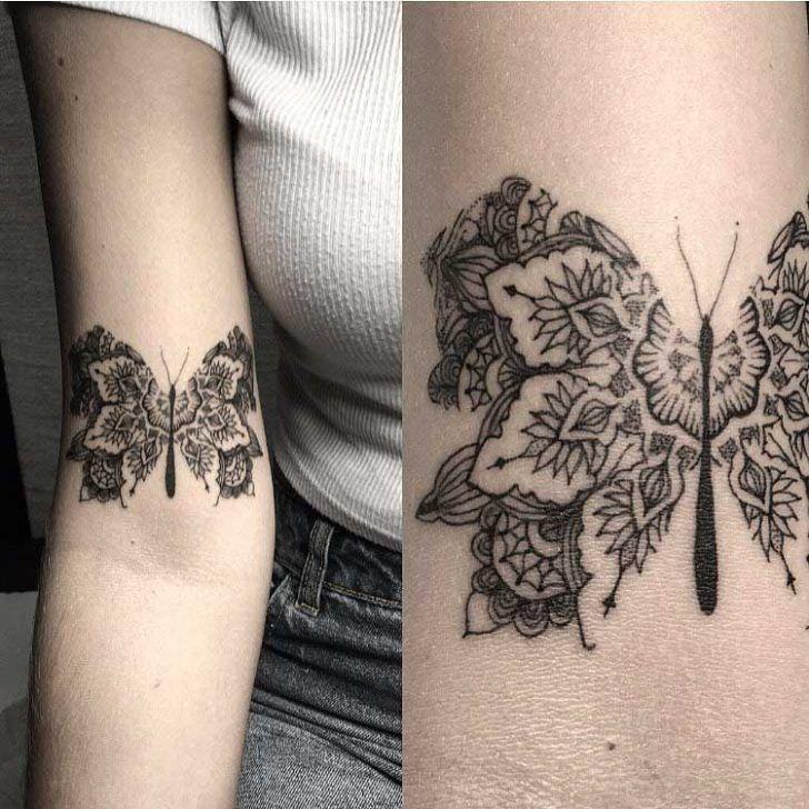butterfly mandala tattoo tattoo tattoo hals. Black Bedroom Furniture Sets. Home Design Ideas