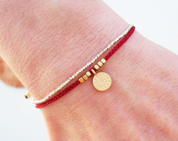 f6adf7962 Wish bracelet, Friendship bracelet, Red string bracelet | jewelry ...