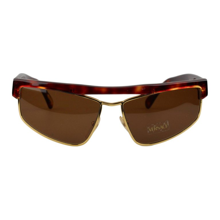Gianni Versace Safety Pin Sunglasses Mod 427 Col 279 At: Gianni Versace Vintage Brown Sunglasses Mod. S01 Col 740