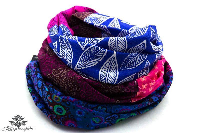 Rundschals von #Lieblingsmanufaktur: Farbenfrohe Loop Schals, Tücher und mehr auf DaWanda.com