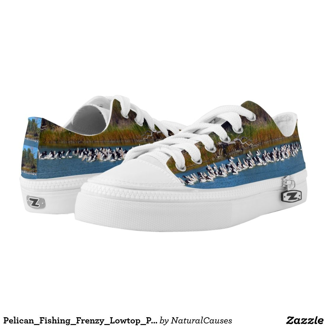 Pelican_Fishing_Frenzy_Lowtop_Printed_Zipz_Shoes. Printed Shoes