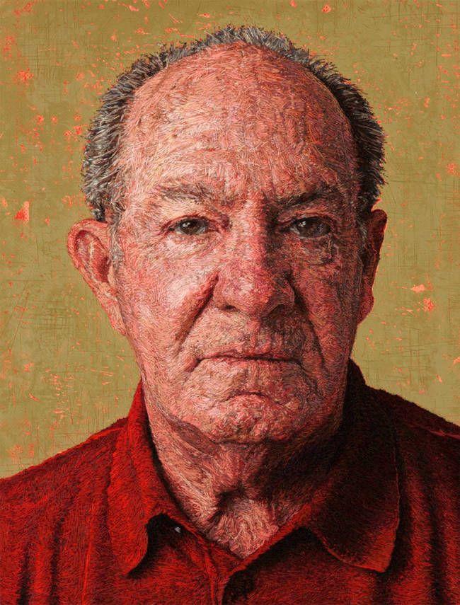 Deze levensechte portretten bestaan uit niets meer dan draad
