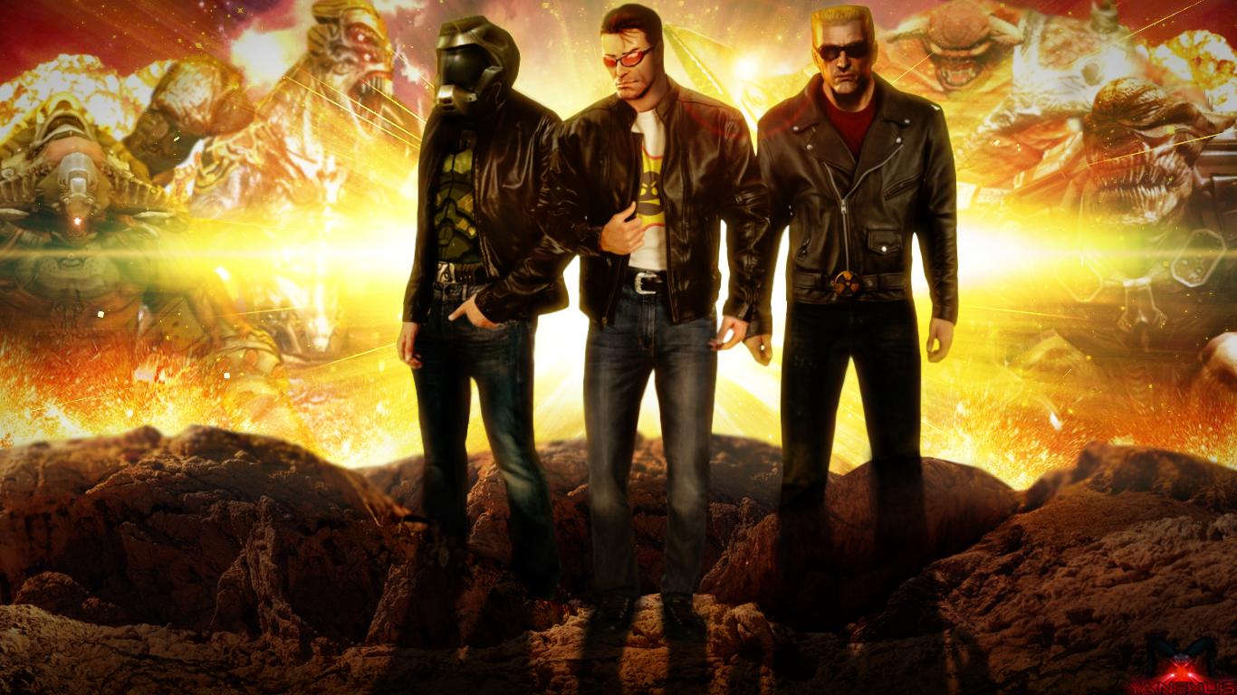 Doom Guy Serious Sam And Duke Nukem Awesome Serious Sam Guys Seriously