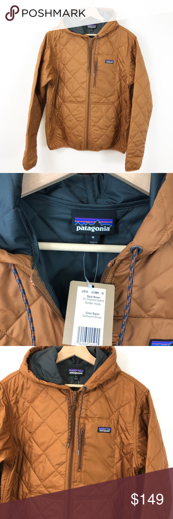 Nwt Patagonia Men S Diamond Quilted Bomber Hoody Quilted Bomber Patagonia Mens Hoodies [ 1740 x 580 Pixel ]