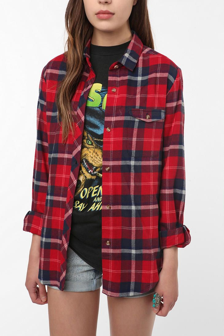 Flannel shirt with shorts  Forget the girl just give me her shirts  Fashion  Pinterest