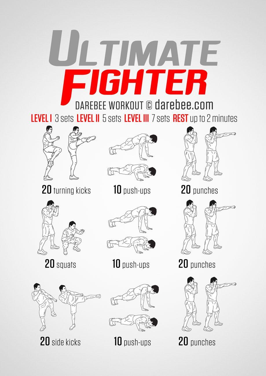Ufc Workout Plan : workout, Fighter, Workout, Routine, WorkoutWalls