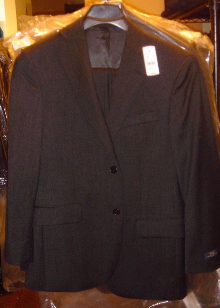 Brooks Brothers 346 Charcoal Gray Suit Jacket Size 38 Short 40/31 ...