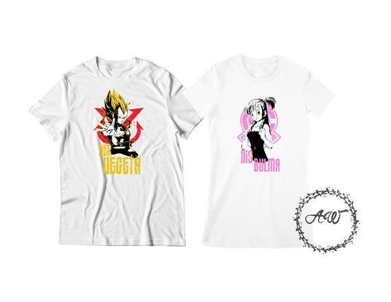 33ace525 Vegeta and Bulma DBZ Couple Tees Shirt Graphic tee T Shirt ...