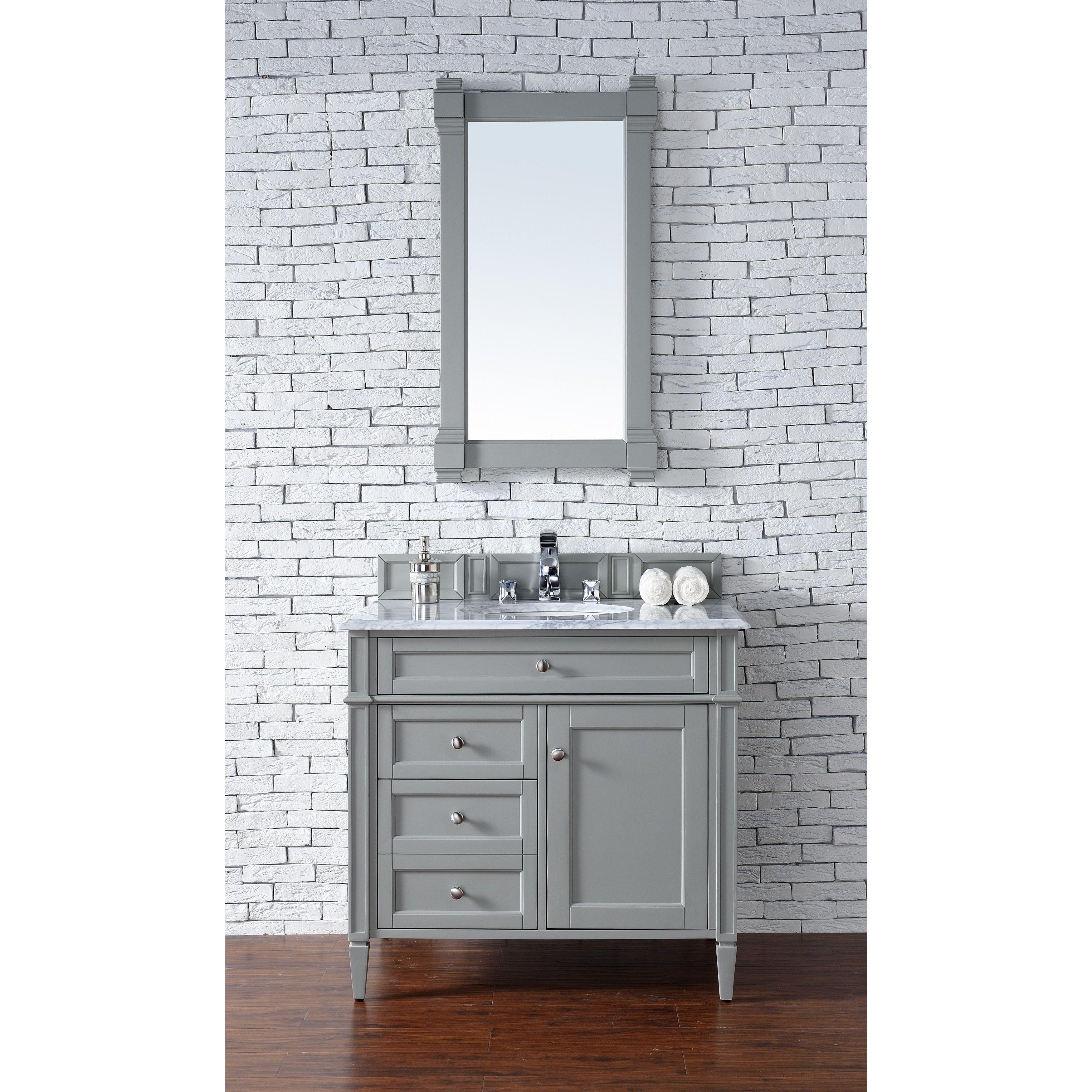James Martin Furniture Urban Grey Brittany 36-inch Single Vanity ...