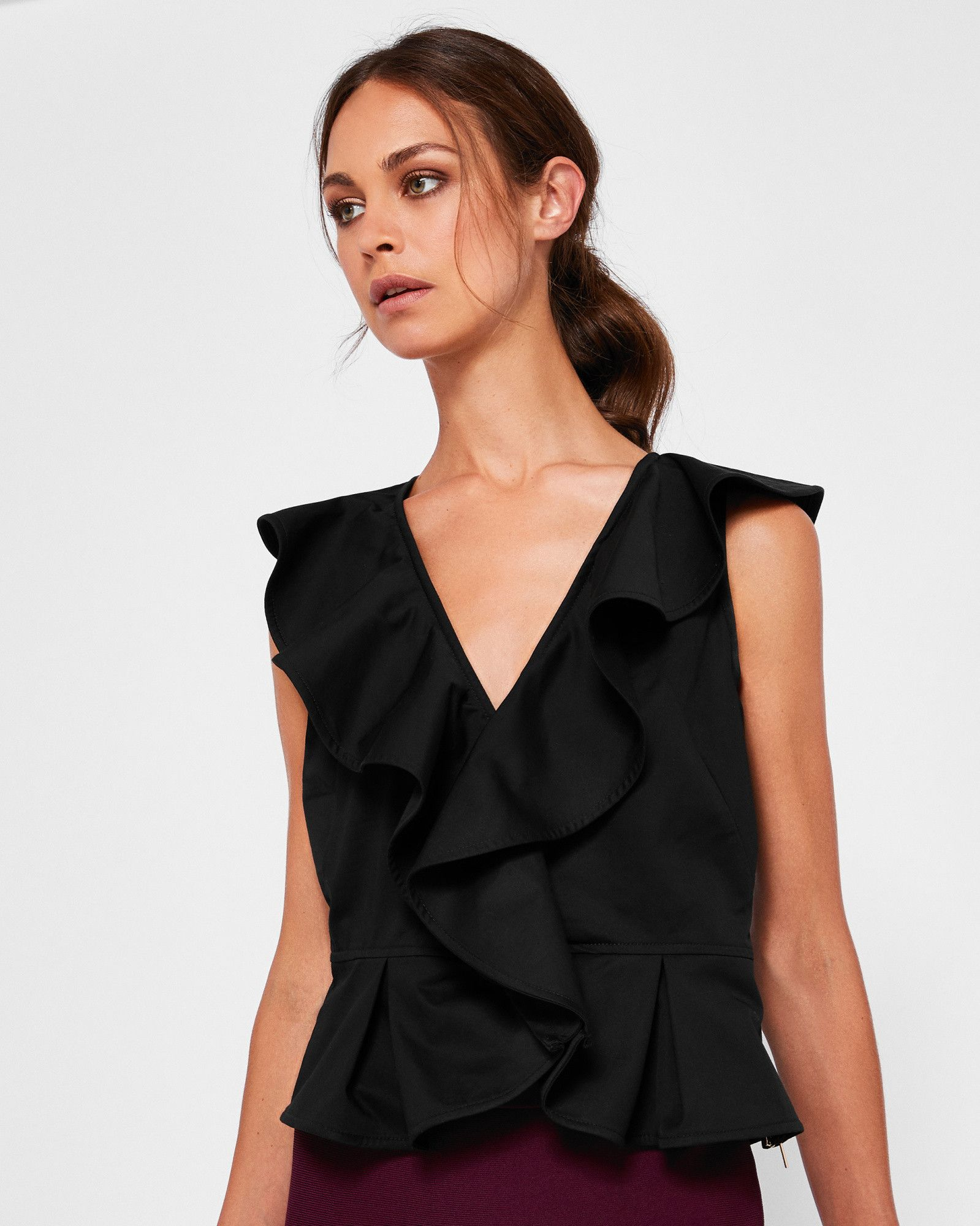 65f3056d522d3 Shop our Ted Baker picks on Keep. LIKARN Ruffle front V-neck top  TedToToe
