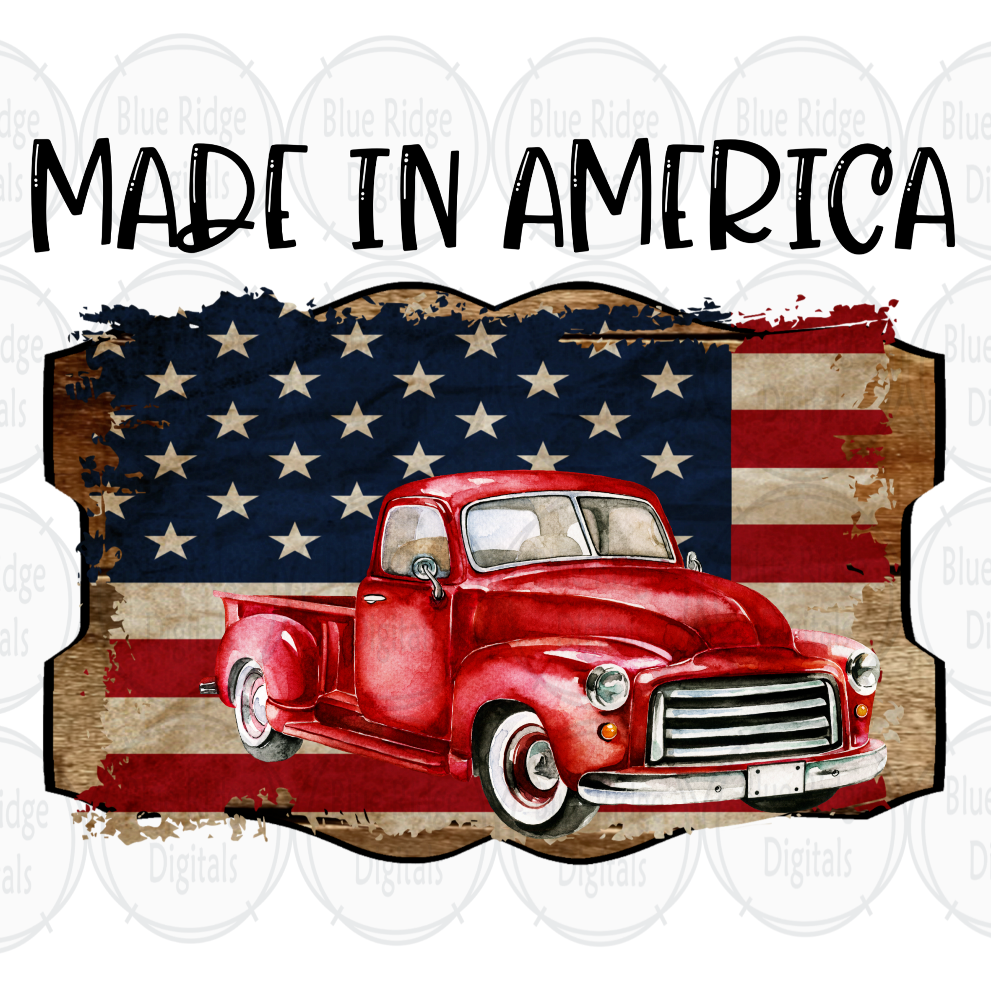 1950 S Red Truck Png Made In America Sublimation Graphic Vintage 1950 S Red Truck Clipart American Flag Clipart 4th Silhouette Design Studio Red Truck Clip Art