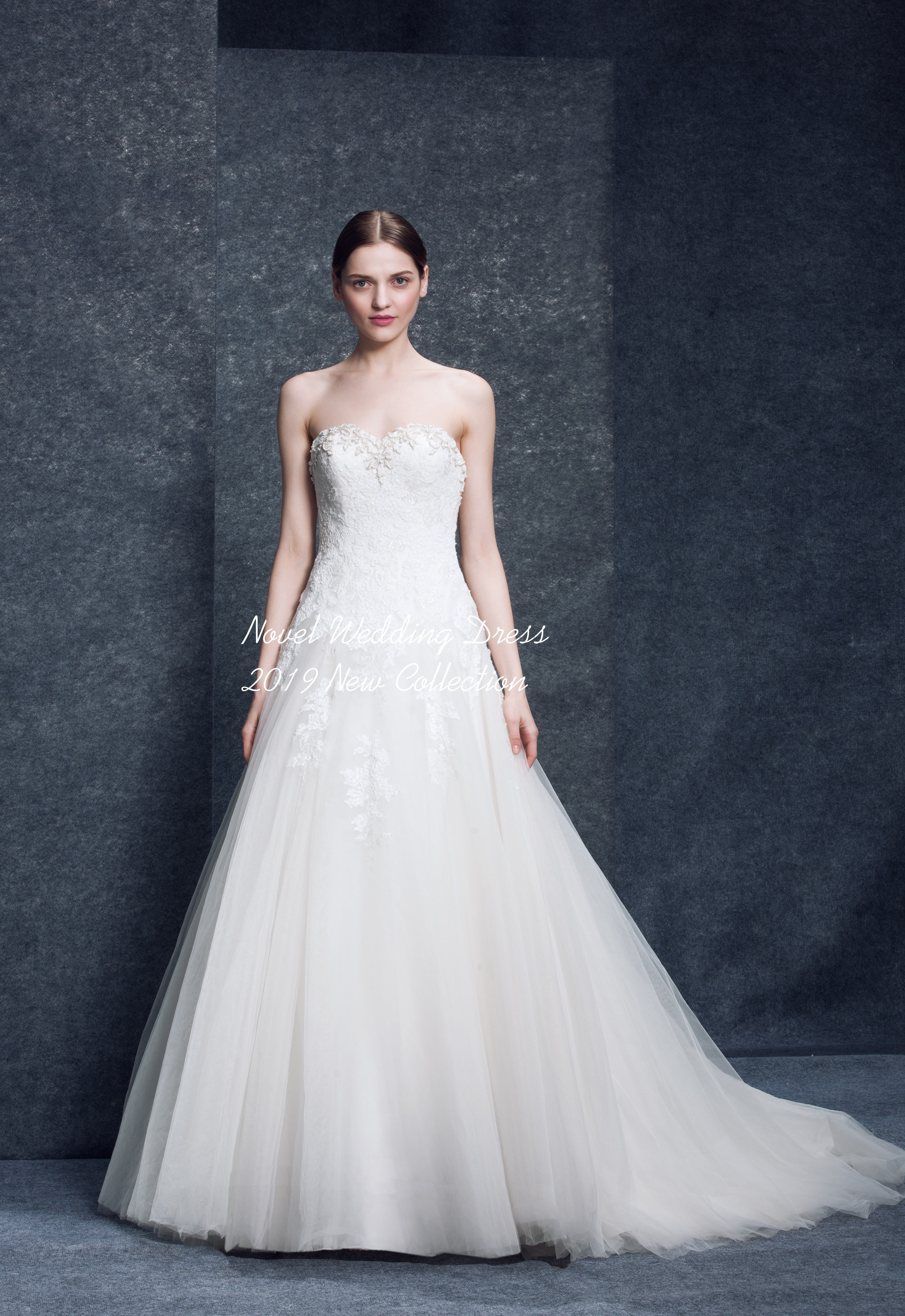 Wedding dresses champagne color wedding dresses detachable train
