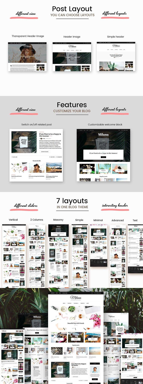 Milana WordPress Blog & Shop Theme Wordpress blog
