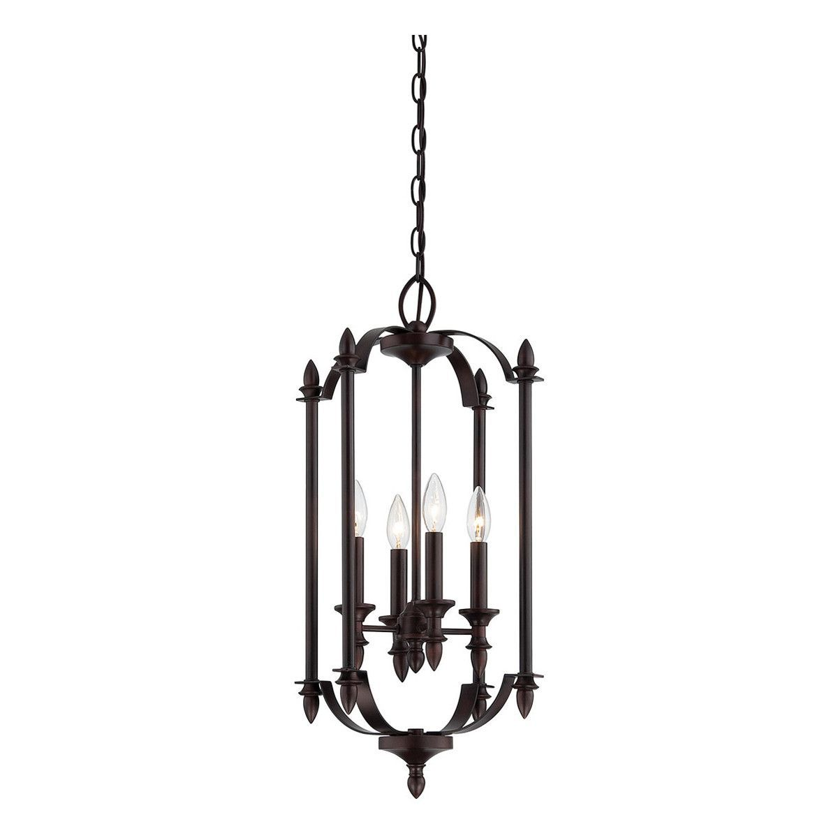 Aldrich 4-Light English Bronze Foyer Pendant