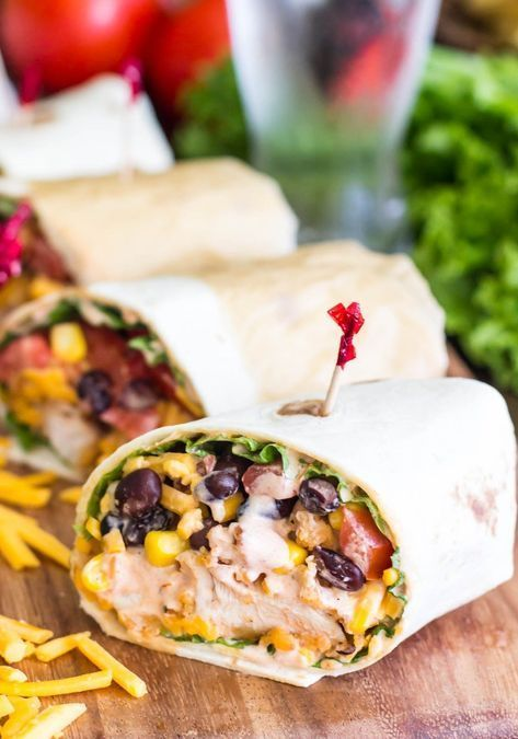 15 Minute Crispy Tex-Mex Chicken Wraps images