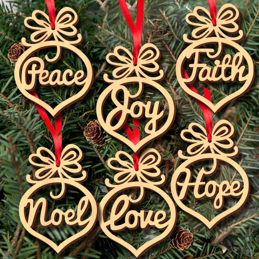 Binmer 6pcs Christmas Decorations Wooden Ornament Xmas Tree Hanging Tags Pendant Decor Walmart Com Wood Christmas Ornaments Xmas Tree Decorations Wooden Christmas Tree Decorations