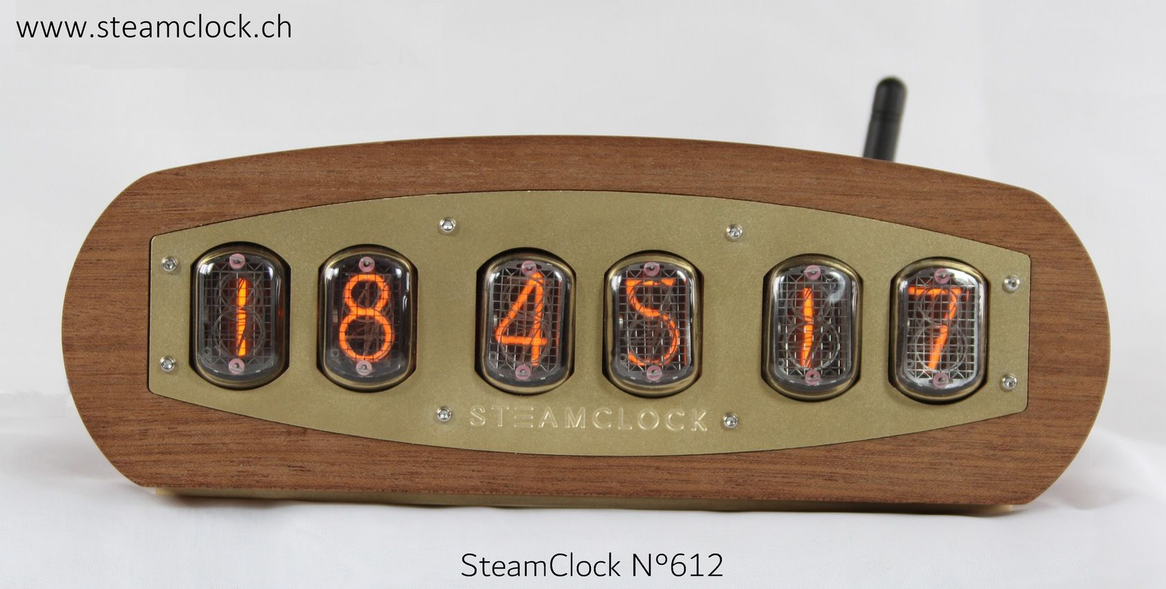 In 12 Nixie Clock Wifi Wifi Nixie In 12 Steamclock Steampunk