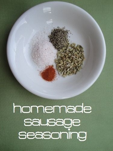 Homemade sausage seasoning to make any ground meat into #unprocessed, no sugar, delish sausage for recipes or breakfast.